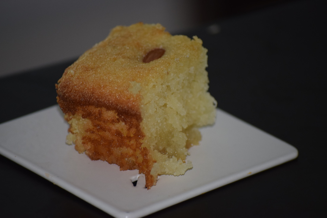 Sweet Semolina Cake With Lemon & Rosewater Recipe — Dishmaps